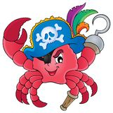 Pirate crab theme image 1 Royalty Free Stock Images