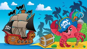 Pirate crab theme image 3 Royalty Free Stock Image
