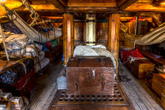 Pirate crew cabin Stock Photos