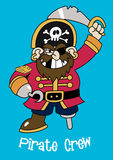 Pirate crew Captain. Vector illustration of a pirate captain Stock Image