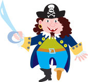 Pirate with cutlass. A cartoon pirate with a peg leg and a cutlass Stock Photo