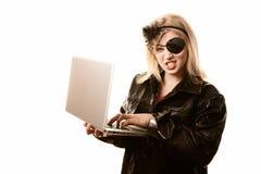 Pirate d'Internet Images libres de droits