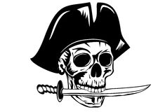 Pirate with dagger Royalty Free Stock Image