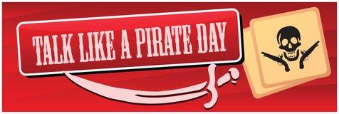 Pirate Day. International Talk Like a Pirate Day royalty free illustration