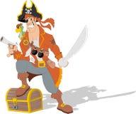Pirate de bande dessinée Photo libre de droits