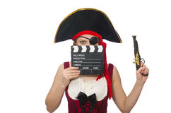 Pirate de femme d'isolement Image stock