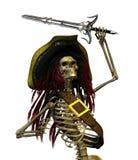 Pirate de squelette de combat illustration de vecteur