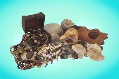 Pirate des trésors de fond de la mer de ` Images libres de droits