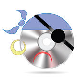 Pirate disc Royalty Free Stock Photography