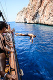 The pirate and diver Anaconda Stock Photo