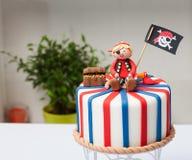 Pirate du gâteau des enfants Photo libre de droits