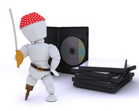 Pirate with DVD software Stock Image