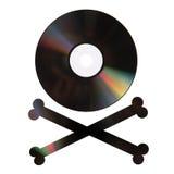 Pirate DVD sur le blanc photo libre de droits
