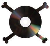 Pirate DVD sur le blanc photographie stock libre de droits