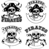 Pirate emblem skull set Royalty Free Stock Photo