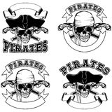 Pirate emblem skull Stock Photo