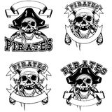 Pirate emblem skull Royalty Free Stock Photo