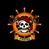 Pirate emblem Stock Photo