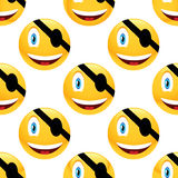 Pirate emoticon pattern Royalty Free Stock Images