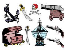 Pirate equipment Stock Photo