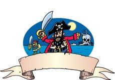 Pirate et perroquet Illustration de Vecteur