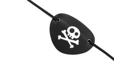 Pirate eyepatch on white Stock Images