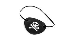 Pirate eyepatch on white Stock Image
