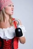 Pirate fâché photographie stock