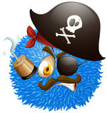 Pirate face on fluffy ball Stock Photography