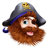 Pirate face illustration Royalty Free Stock Photo