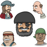 Pirate Faces Stock Photos