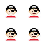 Pirate Facial Expressions Royalty Free Stock Photos