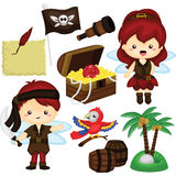 Pirate fairy invitation Royalty Free Stock Photo