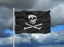 Pirate Flag 1 Royalty Free Stock Image