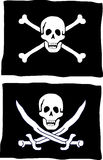 Pirate flag. Two different kind of pirate flag Royalty Free Stock Photography