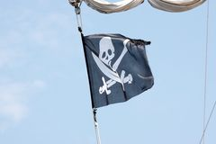 A pirate flag. Stock Images