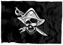 Pirate Flag. The black flag of pirates Royalty Free Stock Image