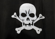 Pirate flag Stock Photo