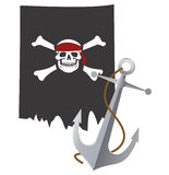Pirate flag Stock Photography