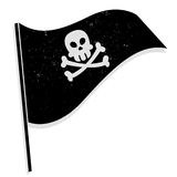 Pirate flag vector. Vector illustration of pirate flag with skull isolated on white background Royalty Free Stock Photography