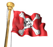 Pirate flag. This is a Pirate flag Royalty Free Stock Photography