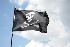 Pirate flag Royalty Free Stock Photos