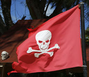 Pirate flag at the Bavaro Beach in Punta Cana, Dominican Republic Royalty Free Stock Image