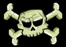Pirate flag in black background Stock Images