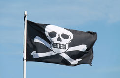 Pirate Flag. Royalty Free Stock Images