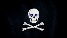 Pirate flag, blue eyes vector illustration