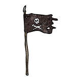 Pirate flag cartoon Stock Photo