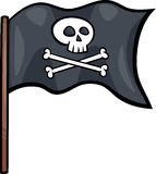 Pirate flag cartoon clip art Royalty Free Stock Photo