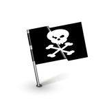Pirate flag with crossed knifes isolated Stock Photo
