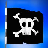 Pirate flag, 3d Royalty Free Stock Photography
